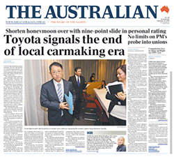 The Australian - Toyota signals the end of local carmaking era