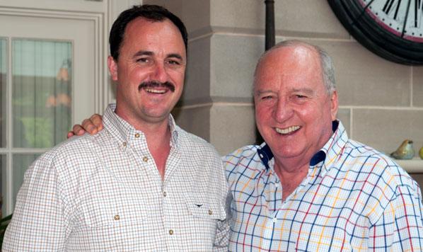 Pictured – Alan Jones with NSW Greens MLC Jeremy Buckingham
