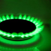 Green gas flame cropped